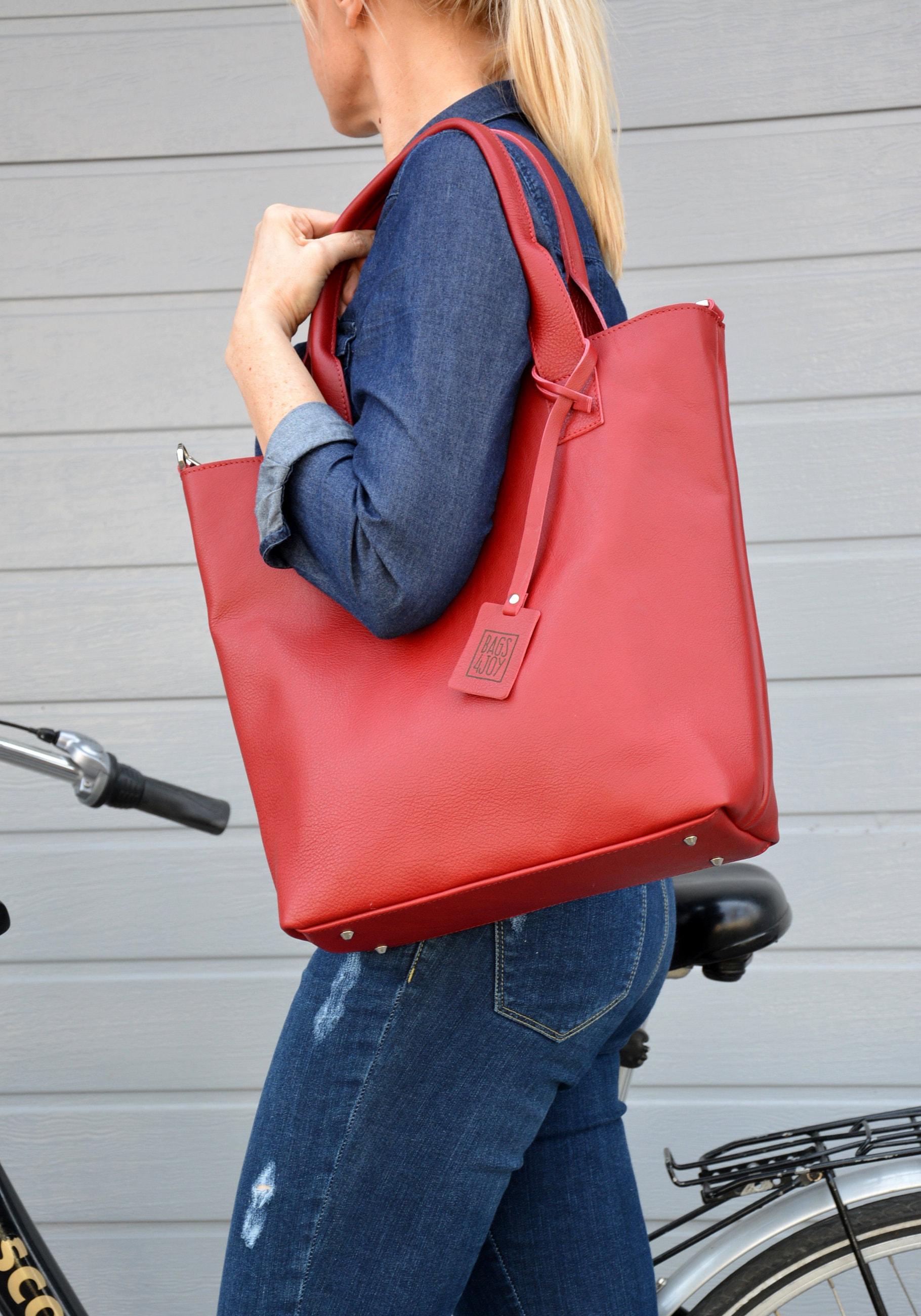 bc163e0a5b Chloe leather bag, big shoulder bag, XL bag women, red bag women, handbag  leather woman, handmade leather bag, huge leather bag women