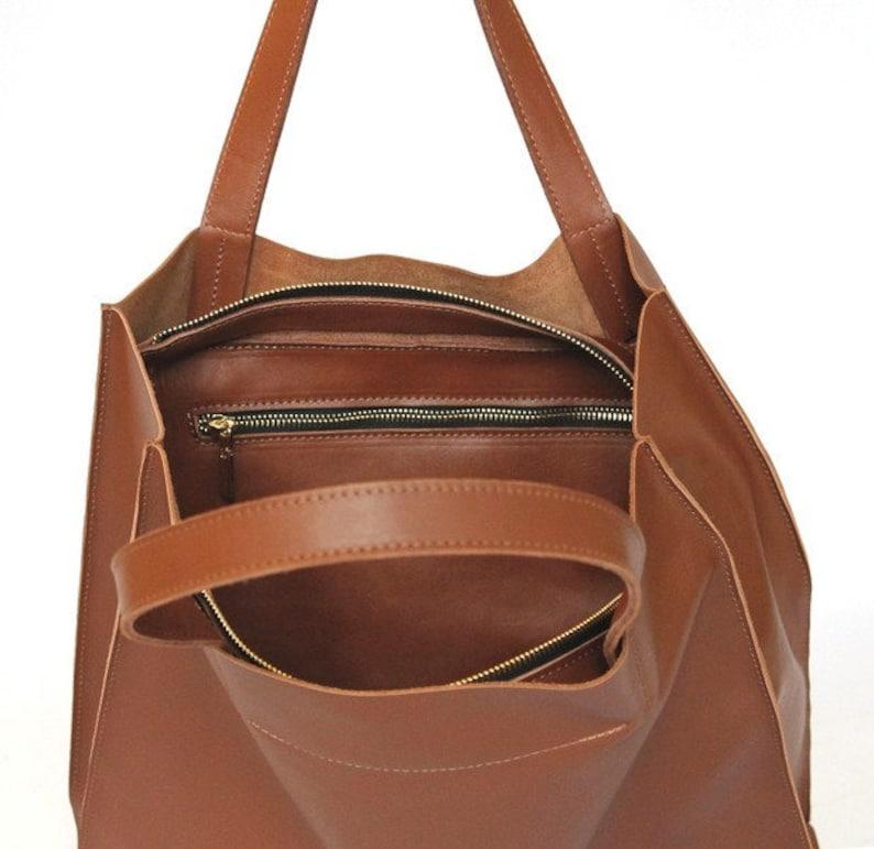 57bfdebd9896b Torebka skórzana UMA duża minimalistyczna torba damska