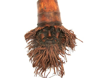 Antique Chinese Bamboo Mask