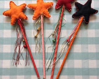 Hand made felt wands