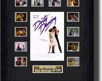 Dirty Dancing film cell (1999) , Jennifer Grey & Patrick Swayze collectible gift Present ,20 year anniversary