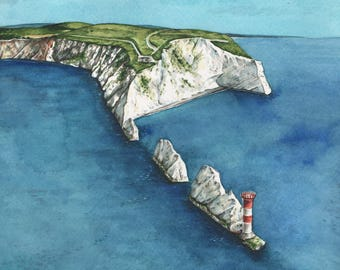 The Needles, Isle of Wight. High quality giclee print