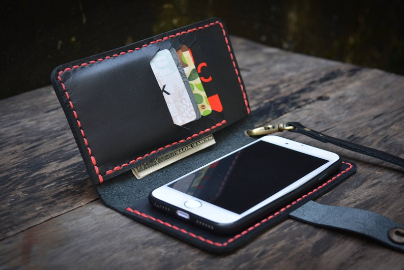 new product 6bcb9 a1438 IPhone X wallet case leather, wrist-let, western iPhone 8 case, iPhone 7s  wallet case, iPhone 7 cover, leather phone case, Free personalized