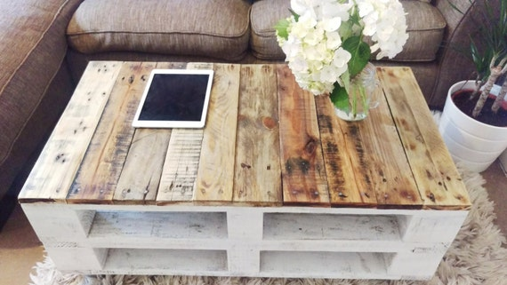 Reclaimed Wood Coffee Table Lemmik In Farmhouse Style Boho Etsy