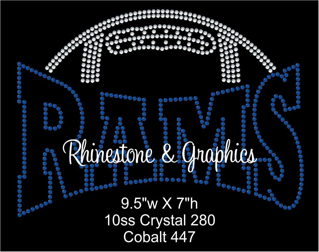 89b3364b96edf Rhinestone Football Rams Design Pattern Graphic Design Instant