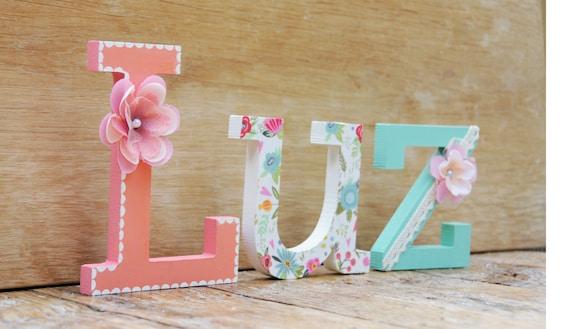Lettere Di Legno Da Appendere : Nome di lettera di legno larga pollici lettere di legno etsy