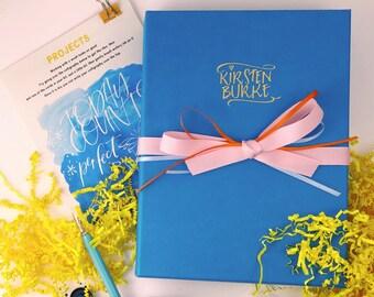 Kids Calligraphy Kit - Beginners Starter Set by Kirsten Burke