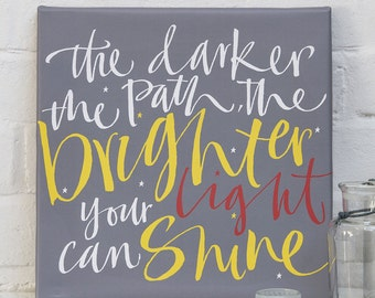 Empathy Canvas - Your Light Will Shine