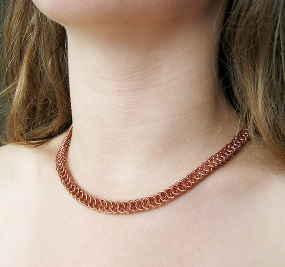 Solid chunky Choker necklace