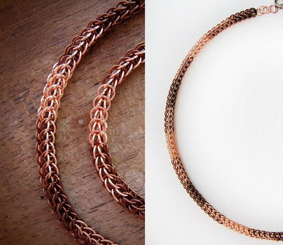 Fy Bijoux copper chains necklace copper bijoux thin chain choker | etsy