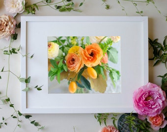 Flower Botanical Print Photograph Kumquat 8 x 10 Floral