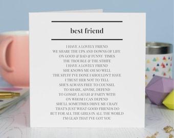 Best Friend Birthday Card Etsy