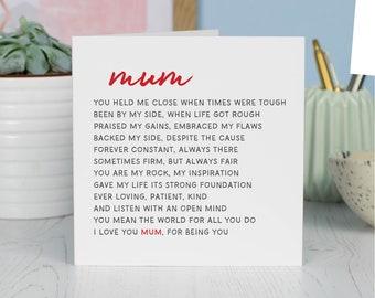 Mama Geschenk Mama Gedicht Muttertag Gedicht Neue Mama Etsy