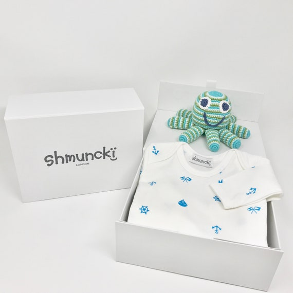 Boxed First Birthday Gift Nautical Baby Clothes Top