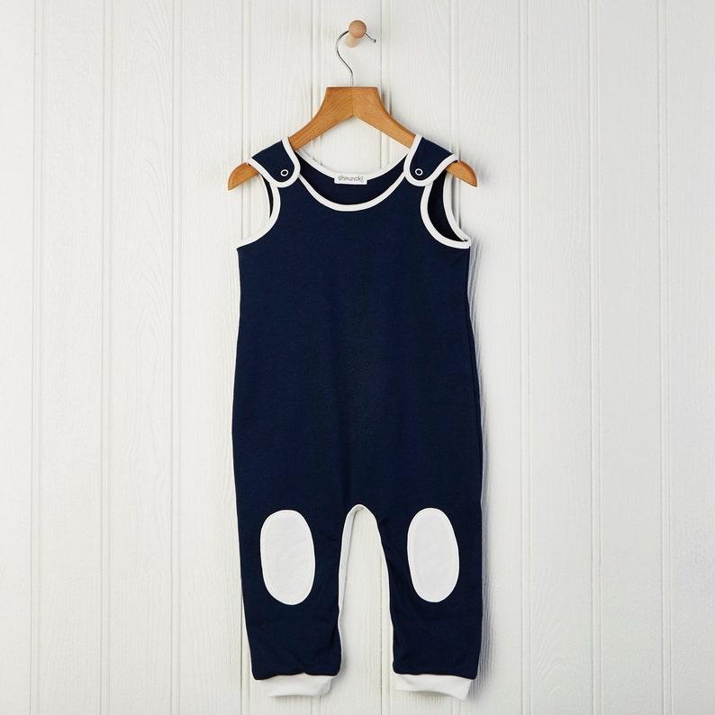 New baby Dungarees Blue Baby clothes Shmuncki Navy newborn overalls