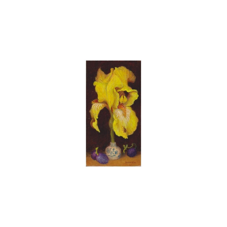 Peinture à l'huile de petit format sur bois nature morte image 0