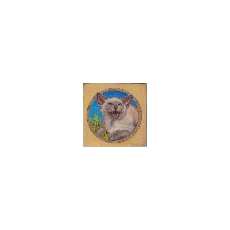 Miniature portait of a balinese cat image 0
