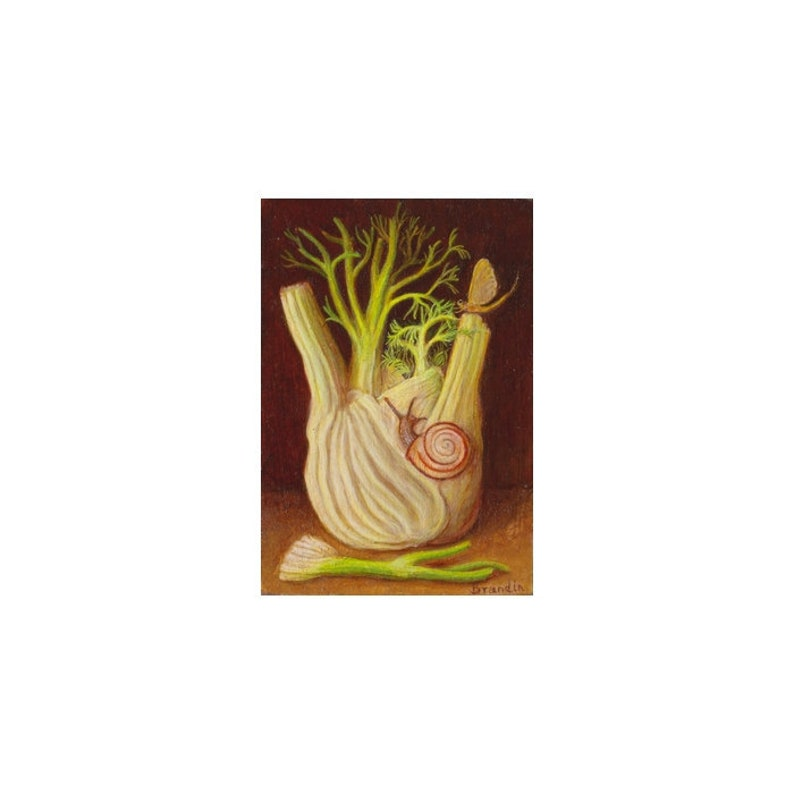 Still life with fennel and snail image 0