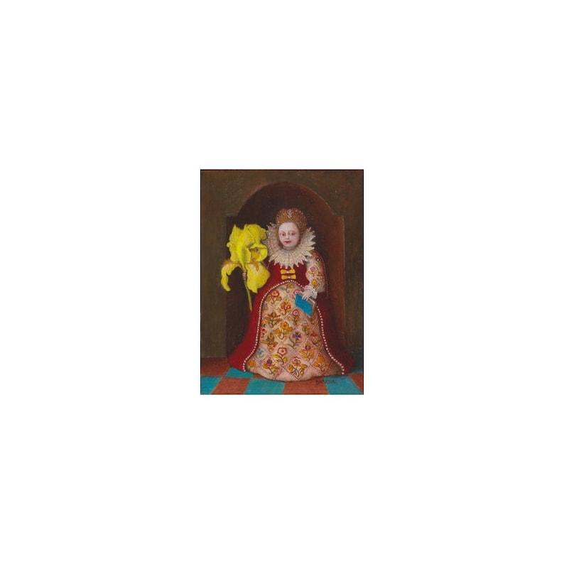 Peinture miniature tempera à l'oeuf et glacis à image 0