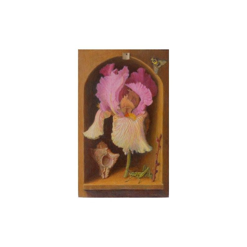 Trompe l'oeil realistic oil painting on wood panel image 0