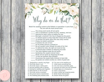 why do we do that bridal shower game wedding tradition quiz bridal shower game bridal shower activity printable game th61