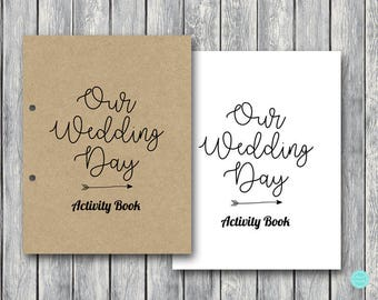 Wedding Kids Activity Book And Coloring Wedding Kids Table Etsy