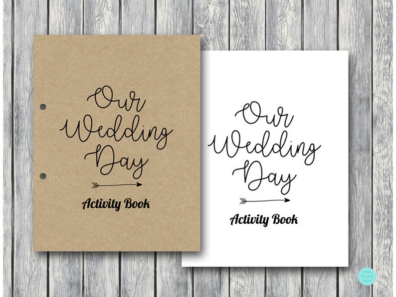 Wedding Kids Activity Book and Coloring Wedding Kids Table | Etsy