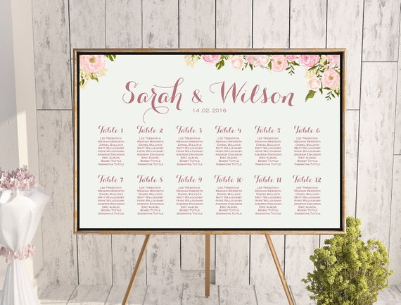 printable custom wedding seating chart wedding seating etsy