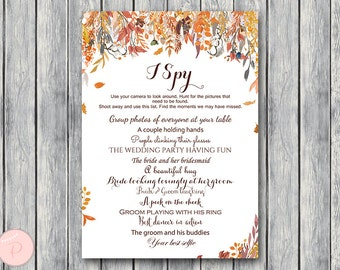 I Spy Wedding Scavenger Game, Wedding Game Printable, Wedding Scavenger Printable, Printable Game wd84 TH47