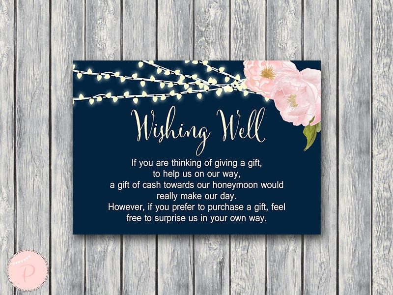 How Much To Pay For A Wedding Gift: Wedding Gift Wishing Well Honeymoon Fund Card And Sign