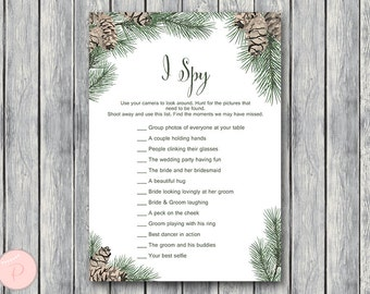 Pinecone  I Spy Wedding Scavenger Game, Wedding Game Printable, Wedding Scavenger Printable, Printable Game WS73 TH54