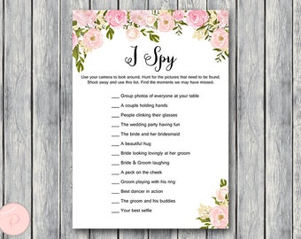 I Spy Wedding Scavenger Game, Wedding Game Printable, Wedding Scavenger Printable, Printable Game wd67 TH13