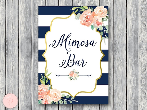 photo regarding Mimosa Bar Sign Printable named Military services Gold Mimosa Bar Signal, Bubbly Bar Signal, Marriage ceremony Bar