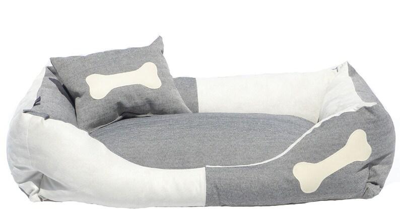Dog Bed Marlon denim image 0