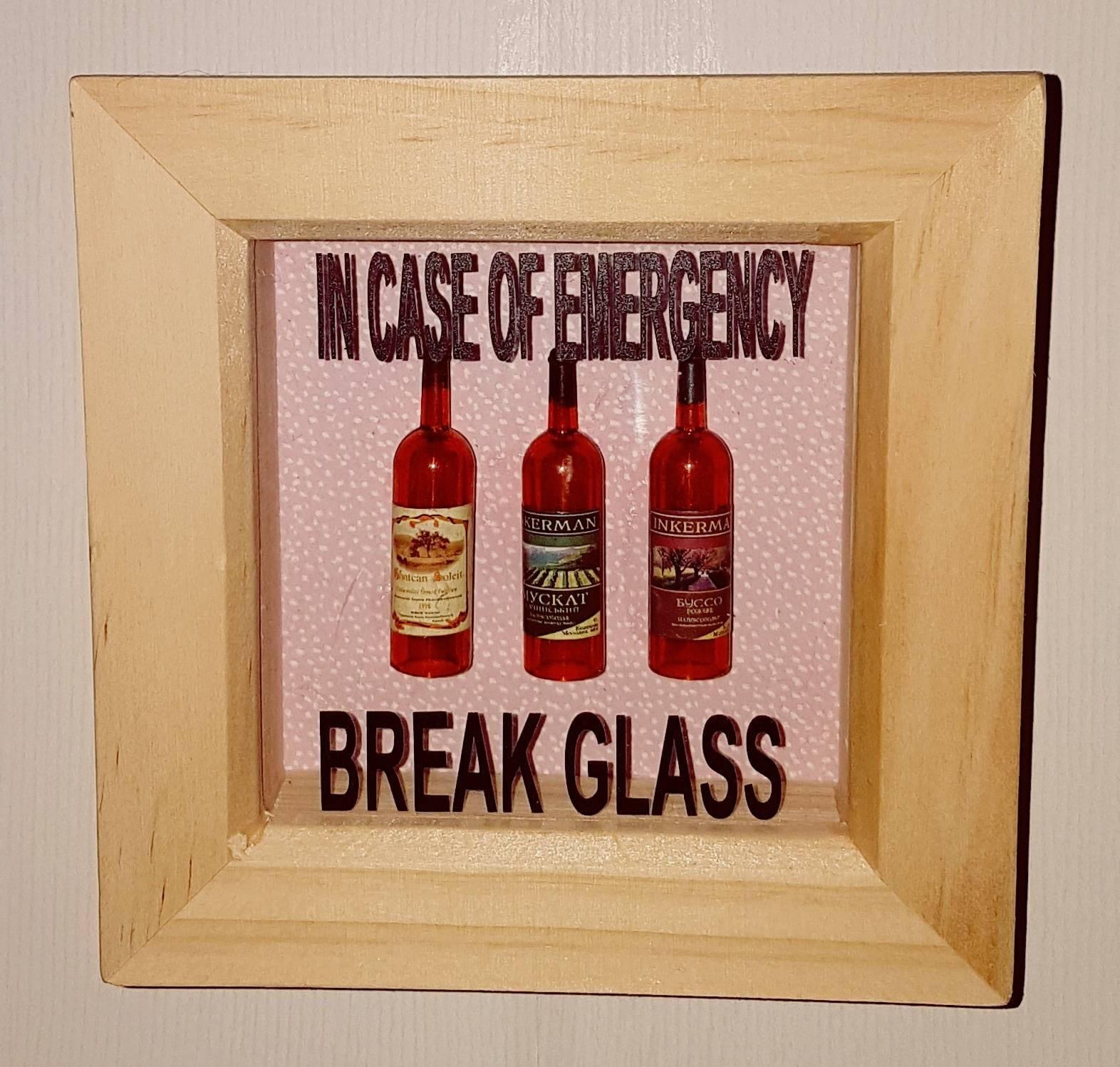 Schrullige Mini Flasche Wein frame.stocking Füllstoff ideales