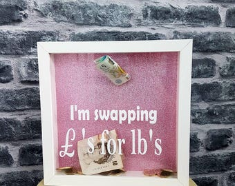 Diet fund, weight loss saving frame. I'm swapping pounds for pounds, weight watchers, slimming world, diet and fitness, gym, healthy living,