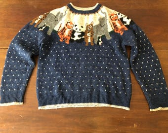 Woolrich Animal Sweater - Size Small/Medium