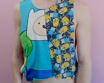 Adventure Time Finn & Jake Crop Top
