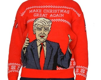 TRUMP Make America Great Again Knit Ugly Christmas Sweater