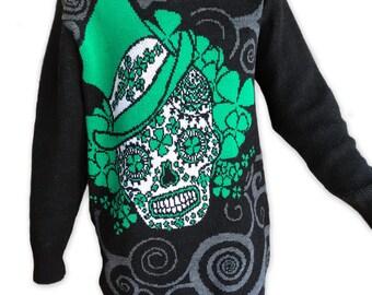 St. Patricks Day - Irish Sugar Skull - Sweater
