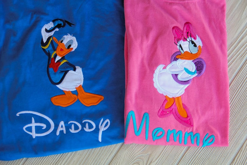 Daisy Duck and Donald Duck Inspired Family Shirts Family Vacation, Disney Vacation, Vacation Shirts, Disneyland, Disney World, Mom and Dad