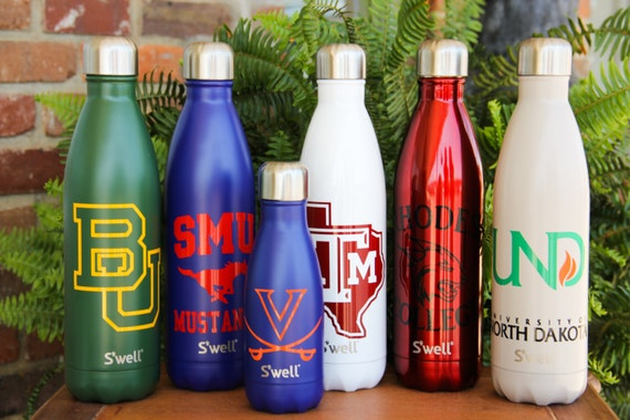 sports custom s well bottles part 1 college sports etsy