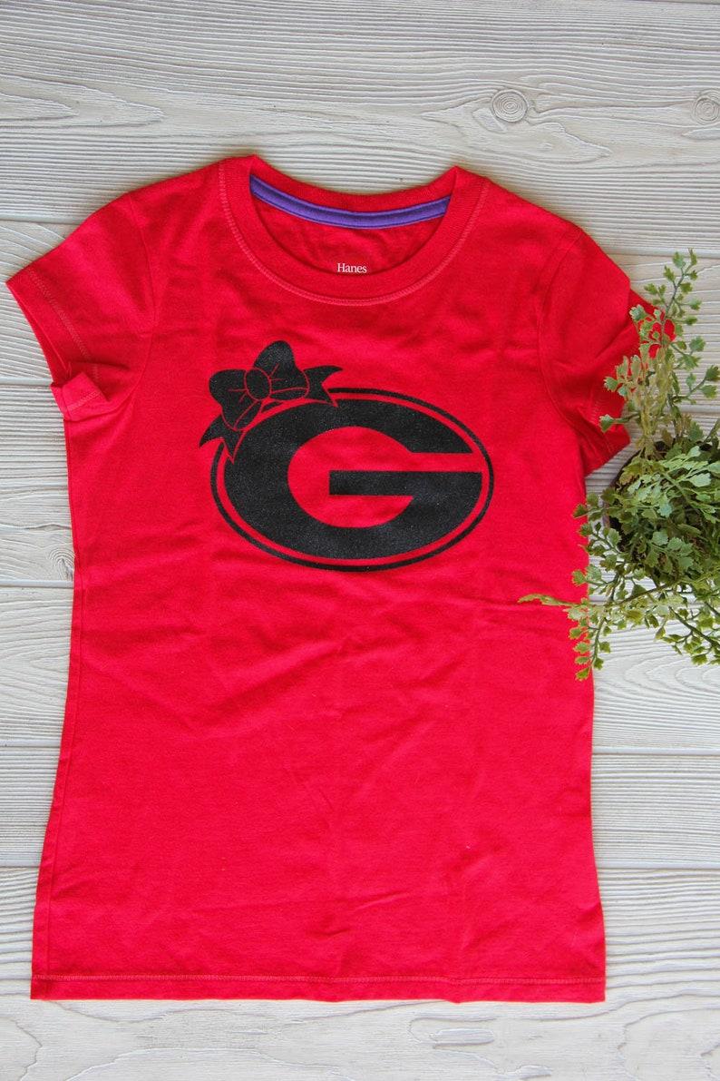 cheap for discount 286d0 fac11 Georgia Bulldogs Kids tee - Football Shirt, Kids Football Tee, Girls Tee,  Youth Football Shirt, Football Fan, Tom Girl Tee,