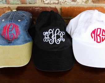 Monogrammed Baseball Cap, Monogram Gifts, Gifts for Her, Gifts for Mom, Personalized Gifts, Sorority Gifts, Bridesmaid Gifts, Monogram Hats