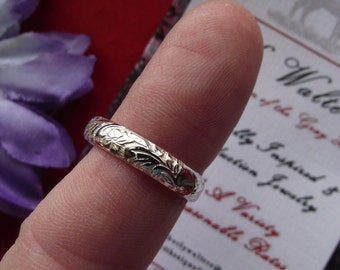 R-0072 - Sterling Silver or 14k Gold Posey Rings - Regency Posey Ring, Georgian Posey Ring, Elizabethan Posey Ring