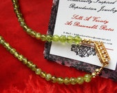 Item B-0051P - Peridot and Sterling Silver Necklace - Regency Necklace, Georgian Necklace, Peridot, Green, Silver