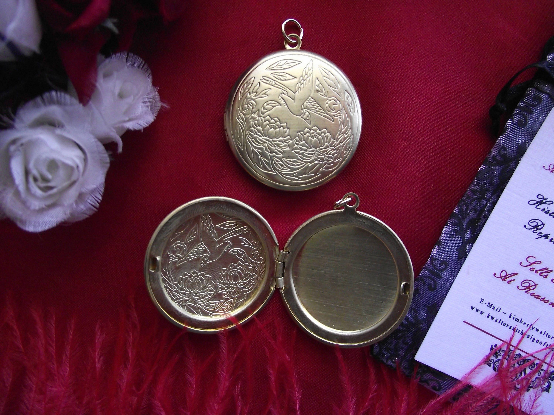 PE - 0063H - Colibri médaillon en laiton, charme, charme de de charme chaîne de montre, Châtelaine 2bc8bd