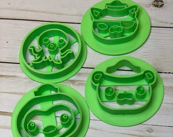 Octonauts Themed Cookie Cutters | Cookie cutter Set | Polar bear Barnacles | Cat Kwazii | Penguin Peso | Professor Inkling Octopus | Custom