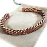 The Blake Bracelet - A Copper Mens Bracelet - The infinity inspired textured copper cuff bracelet for men. A gift he'll actually wear.