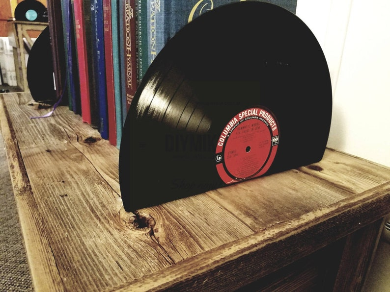 Vinyl Record Bookends  vinyl bookends for the music image 0